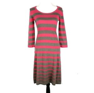 Boden striped soft 3/4 sleeve sweater dress